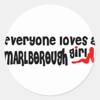 Everyone loves a Marlborough girl Classic Round Sticker