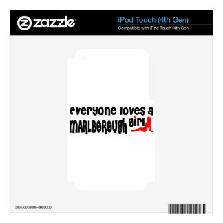 Everyone loves a Marlborough girl Decal For iPod Touch 4G
