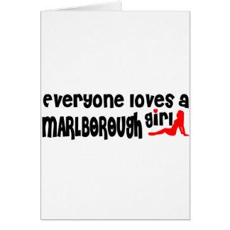 Everyone loves a Marlborough girl Greeting Card
