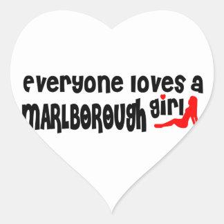 Everyone loves a Marlborough girl Heart Sticker