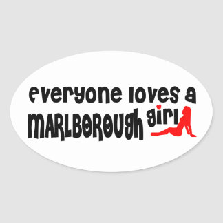 Everyone loves a Marlborough girl Oval Sticker