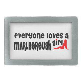 Everyone loves a Marlborough girl Rectangular Belt Buckles