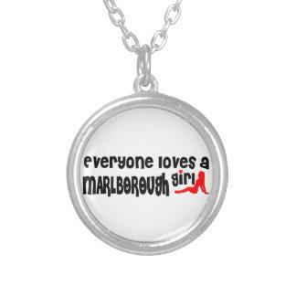 Everyone loves a Marlborough girl Round Pendant Necklace
