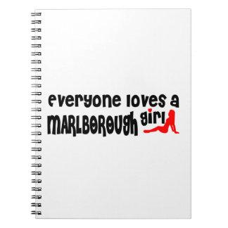 Everyone loves a Marlborough girl Spiral Note Book