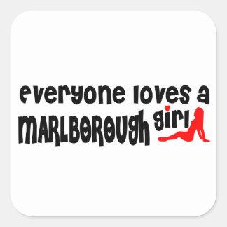 Everyone loves a Marlborough girl Square Sticker