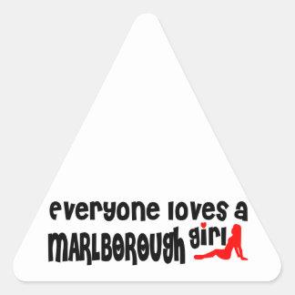Everyone loves a Marlborough girl Triangle Sticker