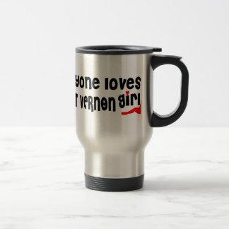 Everyone loves a Mount Vernon girl 15 Oz Stainless Steel Travel Mug