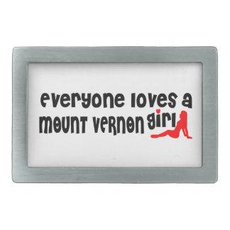 Everyone loves a Mount Vernon girl Rectangular Belt Buckle