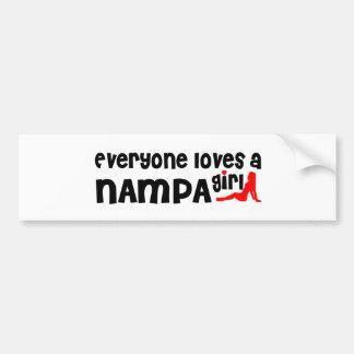 Everyone loves a Nampa girl Car Bumper Sticker