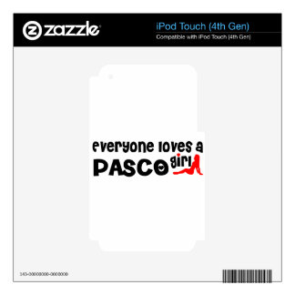 Everyone loves a Pasco girl iPod Touch 4G Decals
