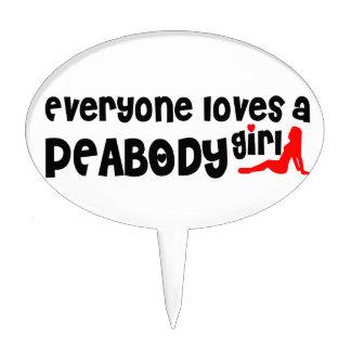Everyone loves a Peabody girl Cake Picks