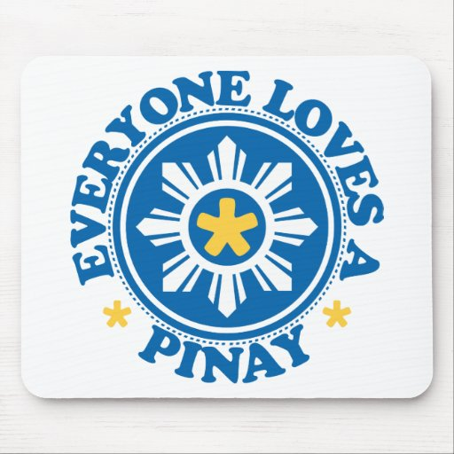 Everyone Loves a Pinay - Blue Mouse Mat