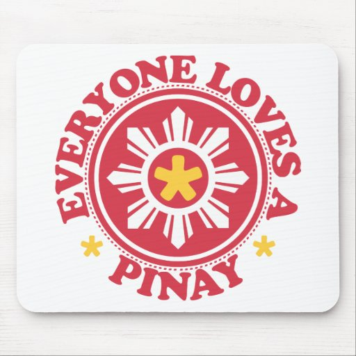 Everyone Loves a Pinay - Red Mouse Mat