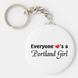 Everyone loves a Portland Girl Basic Round Button Keychain