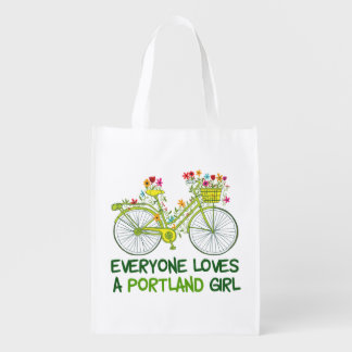 Everyone Loves a Portland Girl Reusable Grocery Bag