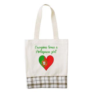 Everyone Loves A Portuguese Girl Zazzle HEART Tote Bag