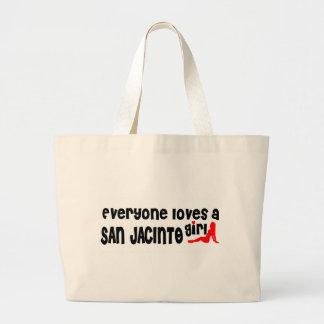 Everyone loves a San Jacinto girl Jumbo Tote Bag