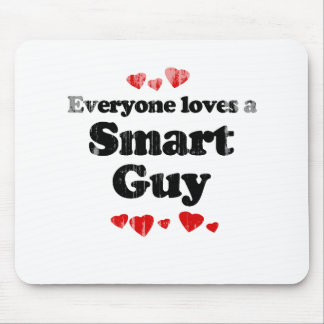 Everyone Loves a Smart Guy T-shirt Faded.png Mouse Pad