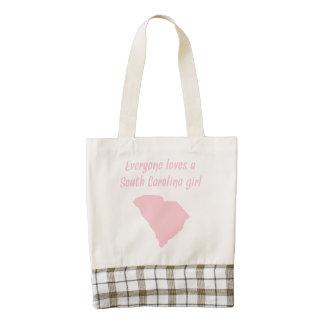 Everyone Loves A South Carolina Girl Zazzle HEART Tote Bag