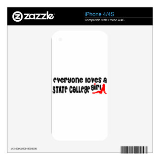 Everyone loves a State College girl iPhone 4S Decal