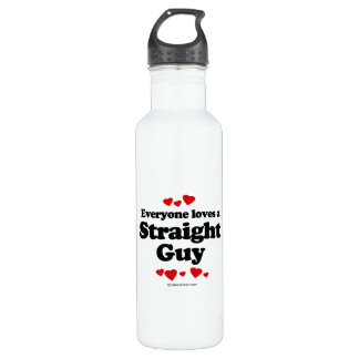Everyone Loves a Straight Guy T-shirt 24oz Water Bottle