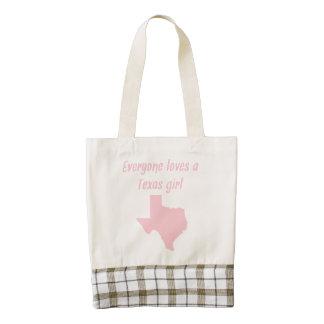 Everyone Loves A Texas Girl Zazzle HEART Tote Bag