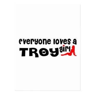 Everyone loves a Troy NY girl Postcard