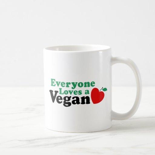 Everyone Loves a Vegan Classic White Coffee Mug