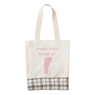 Everyone Loves A Vermont Girl Zazzle HEART Tote Bag