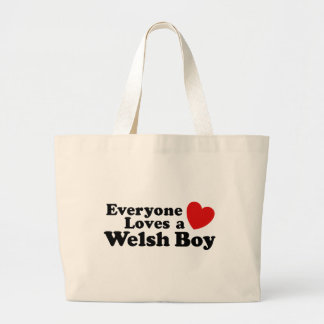 Everyone Loves A Welsh Boy Large Tote Bag