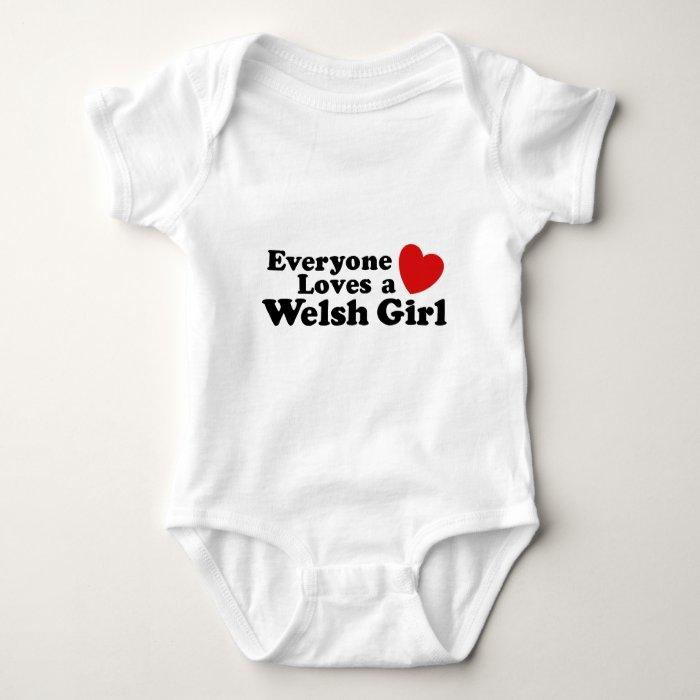 Everyone Loves A Welsh Girl Baby Bodysuit