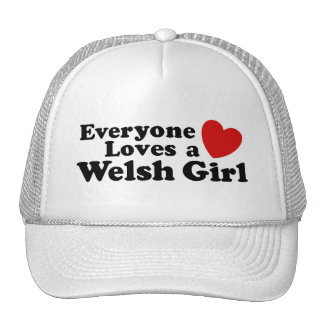 Everyone Loves A Welsh Girl Mesh Hats
