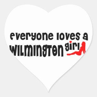 Everyone loves a Wilmington girl Heart Sticker