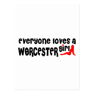 Everyone loves a Worcester girl Postcard