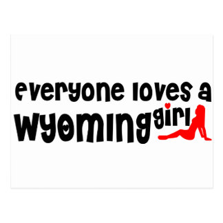 Everyone loves a Wyoming girl Postcard