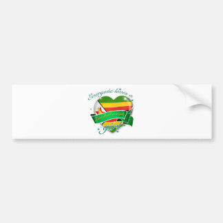Everyone loves a Zimbabwean girl Bumper Sticker