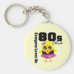 Everyone Loves An 80s Chick Key Chain