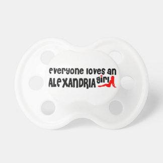 Everyone loves an Alexandria girl BooginHead Pacifier