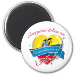 Everyone loves an Ecuadorian Girl Refrigerator Magnets