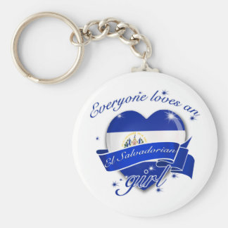 Everyone Loves An El salvadorian Girl Basic Round Button Keychain
