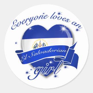 Everyone Loves An El salvadorian Girl Stickers
