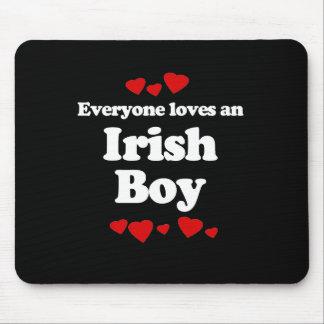 Everyone Loves an Irish Boy T-shirt Mouse Pad