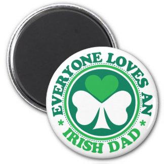 Everyone Loves an Irish Dad 2 Inch Round Magnet