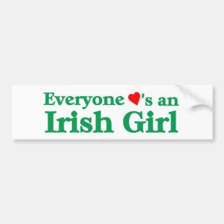 Everyone loves an Irish Girl Bumper Sticker