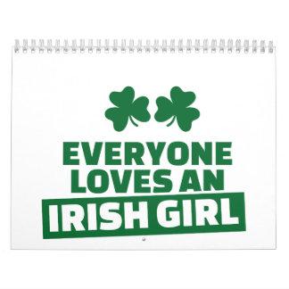 Everyone loves an irish girl wall calendars