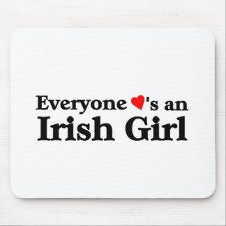 Everyone loves an Irish Girl Mouse Pad