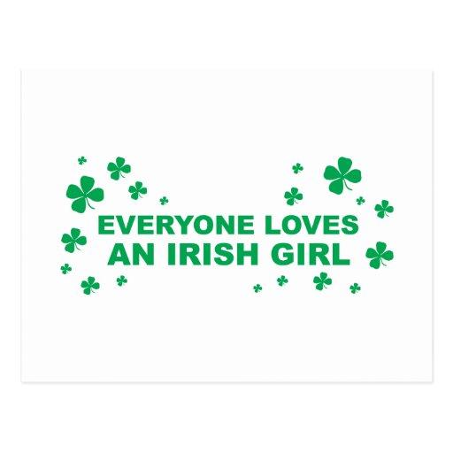 Everyone Loves An Irish Girl Postcard