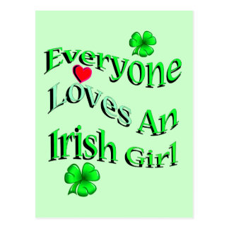 Everyone Loves An Irish Girl Postcard