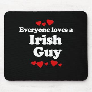 Everyone Loves an Irish Guy T-shirt Mouse Pad