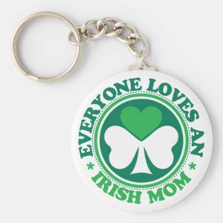 Everyone Loves an Irish Mom Keychain